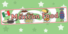 Mexican Food Display Banner