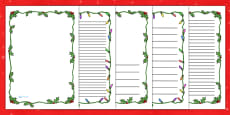 Christmas Themed Page Borders