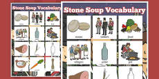 Stone Soup Vocabulary Poster