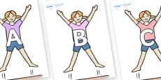 A-Z Alphabet on Star Jumps