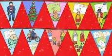 Bunting to Support Teaching on The Jolly Christmas Postman