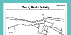 1916 Rising Dublin Map Worksheet