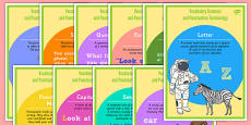 Year 1 Vocabulary Grammar and Punctuation Terminology Display Posters