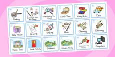 Kindergarten Foundation Visual Timetable