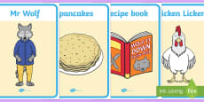 Display Posters to Support Teaching on Mr Wolf's Pancakes