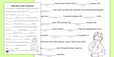 A Year in Review Mad Libs Activity Sheet