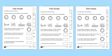 Differentiated Time Activity Sheet Pack