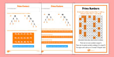 Prime Factors Activity Sheet Pack