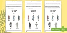 * NEW * KS2 Palm Sunday Play Script Differentiated Reading Comprehension Activity