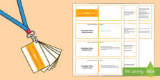 Lanyard Sized Foundation Phase Profile Shape Skills Ladder Cards