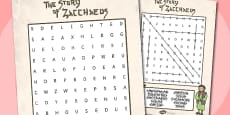 Zaccheus the Tax CollectorBible Story Differentiated Wordsearch