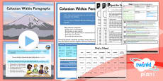 PlanIt Y5 SPaG Lesson Pack: Cohesion Within Paragraphs