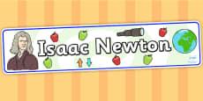 Isaac Newton Display Banner