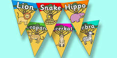 Safari Animal Bunting