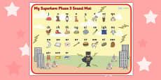 Superhero Themed Phase 3 Sound Mat