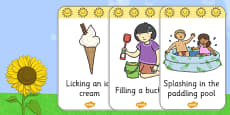 Look and Act Summer Flashcards