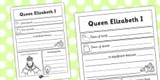 Elizabeth I Significant Individual Writing Frame