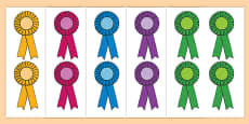 Editable Award Rosettes