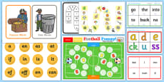 * NEW * Phase 2 Phonics Games Activity Pack