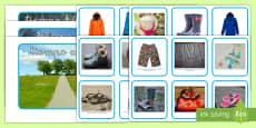 Ficha de actividad: Emparejar la ropa y el tiempo