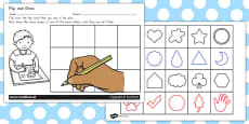 Flip and Draw Fine Motor Skills Sheets Cards Activity (Australia)