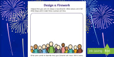 Bonfire Night Firework Design Activity Sheet