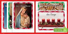 Weihnachtsfotos als Vokabelhilfe Poster DIN A4
