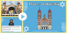 Pŵerbwynt CA2 Lleoedd Addoli Synagogau Iddewig