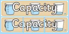 Capacity Display Banner
