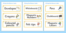 Angel Fish Themed Editable Writing Area Resource Labels