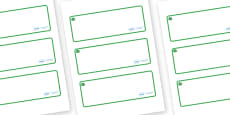 Jade Themed Editable Drawer-Peg-Name Labels (Blank)