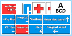 Hospital Roleplay Display Signs