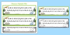 Dinosaur Upper and Lower Case Alphabet Mat