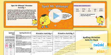 PlanIt Y5 Term 1A Assess and Review Spelling Pack