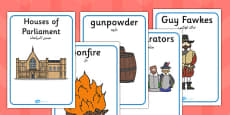 The Gunpowder Plot Display Posters Arabic Translation