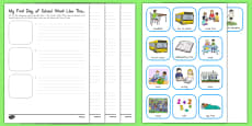 My First Day of School Went Like This Activity Sheet USA