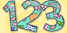 Themed Display Numbers to Support Teaching on Aliens Love Underpants