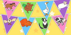 Bunting to Support Teaching on Farmyard Hullabaloo
