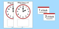 Analogue Clocks Hourly (Matching) Polish Translation