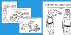 Under the Sea Colouring By Numbers Dots