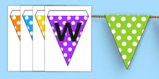 Welcome to Reception Bunting