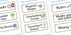 Owl Themed Editable Maths Area Resource Labels