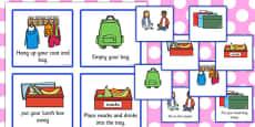 Classroom Morning Reminder Cards