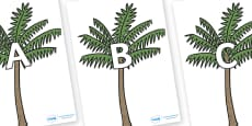 A-Z Alphabet on Palm Trees