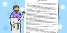 The Miracles of Jesus Bible Stories Print Out