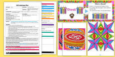 Large Rangoli Patterns EYFS Adult Input Plan and Resource Pack