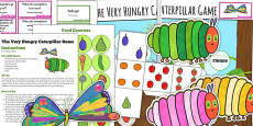 Board Game to Support Teaching on The Very Hungry Caterpillar