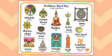 Buddhism Word Mat Arabic Translation