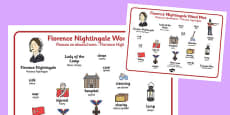 Florence Nightingale Word Mat Polish Translation