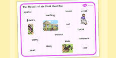 The Flowers of the Field Word Mat